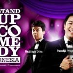 Pandji dan Raditya Dika dalam stand up comedy